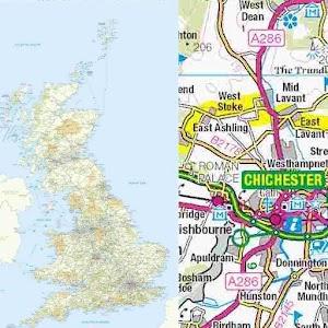 Great Britain Road Atlas Map