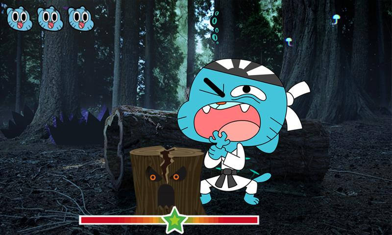 Journey Into    The Amazing World Of Gumball    And Play Games With