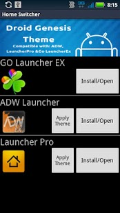Droid Genesis Launcher Theme- screenshot thumbnail