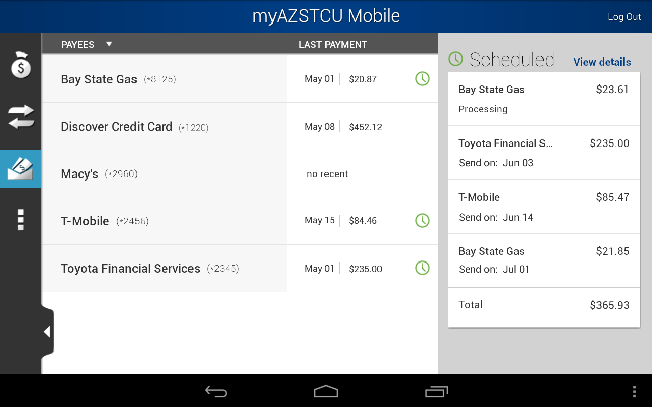 myAZSTCU Mobile - screenshot