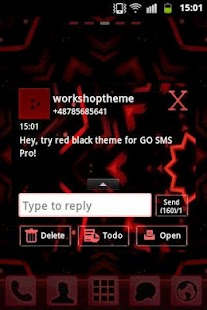Red Black GO SMS Theme- screenshot thumbnail