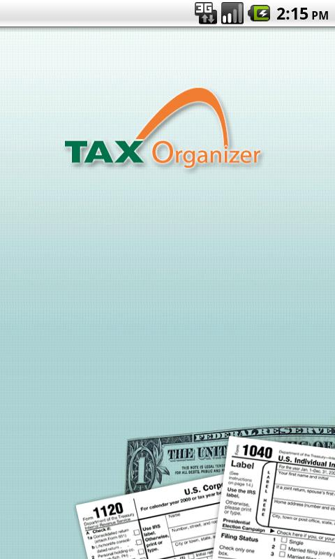 TAX Organizer - screenshot