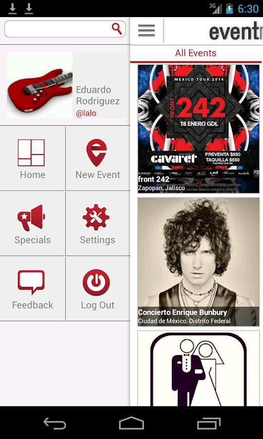 Eventmode - screenshot