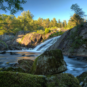 Silence by Einar Bjaanes - Landscapes Waterscapes ( water, waterfall, silence, sarpsborg, norway )