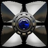 Next Launcher Theme Blue Saphi