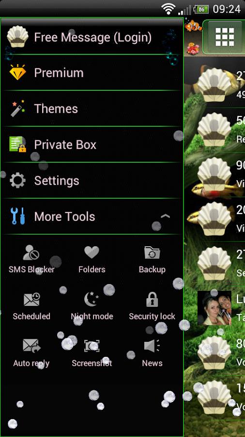 Aquarium GO SMS Theme - screenshot
