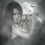 Gothic Skull Rose Live LWP