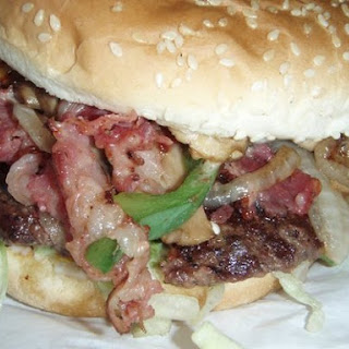 Hazel May`s Famous Burger.