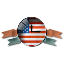 Флаг США. Американские часы. icon