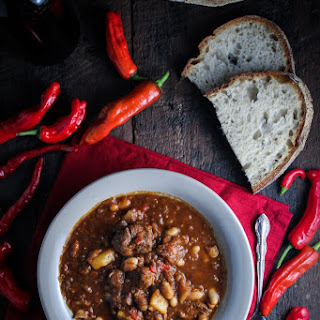 Lamb, Butternut Squash, and White Bean Chili