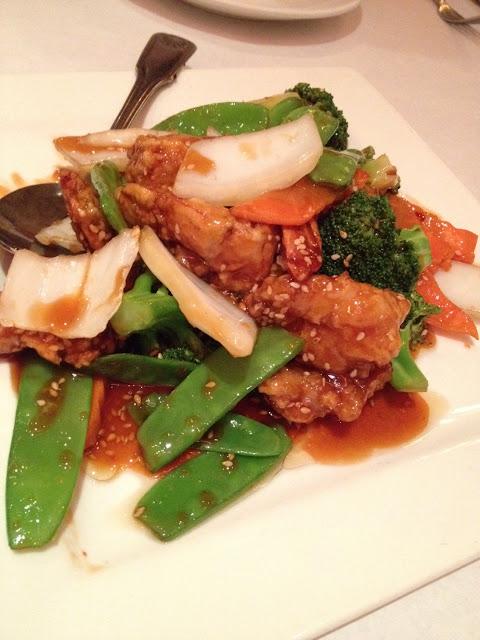 Crispy sesame shrimp