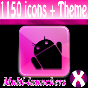 Pink BlkTux Theme 4 Launchers