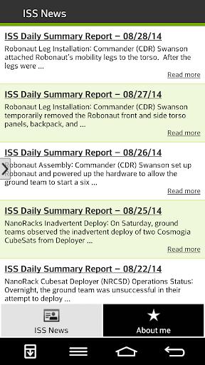 NASA ISS News
