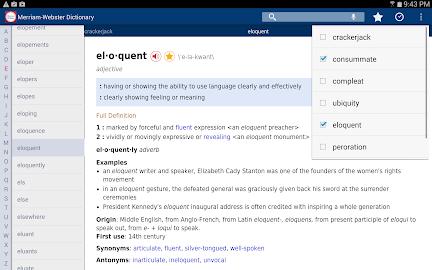 Dictionary - Merriam-Webster Screenshot 1