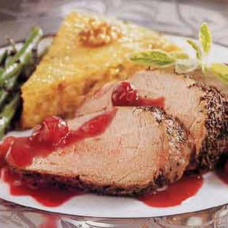 Roast Pork Tenderloins with Cranberry-Port Sauce.