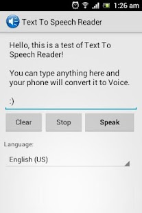 Text To Speech Reader - screenshot thumbnail