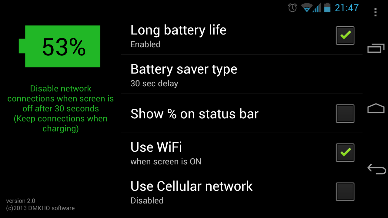 Long Battery Life DEMO- screenshot