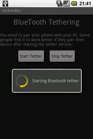 tether Blu - screenshot