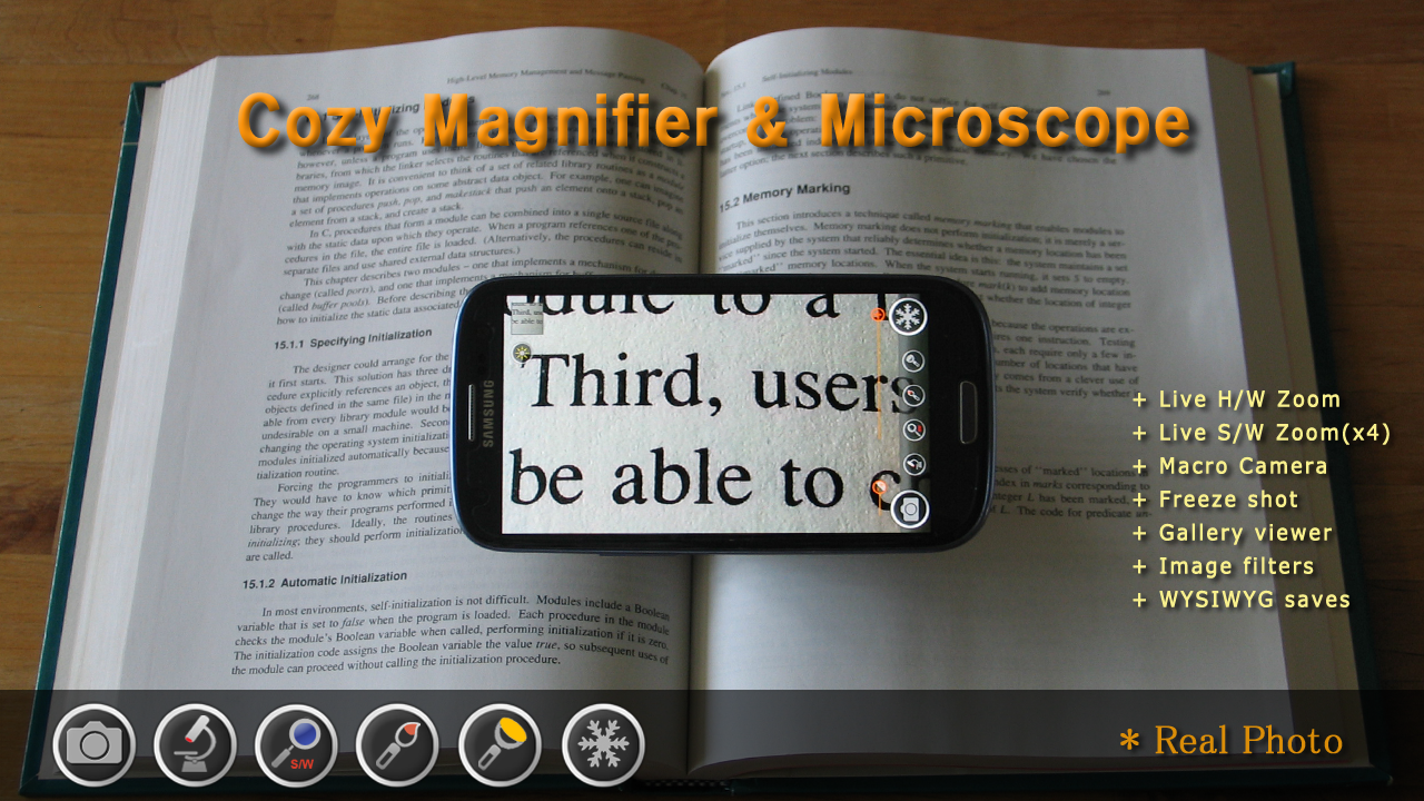 Magnifier & Microscope+ [Cozy]- screenshot