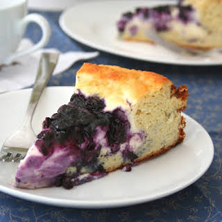 Blueberry Cream Cheese Coffeecake (Low Carb and Gluten-Free).