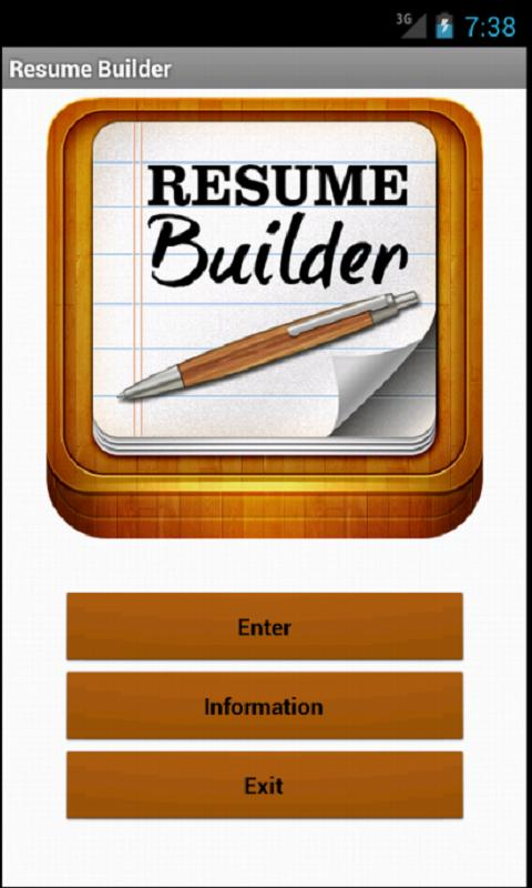 Resume Builder- screenshot