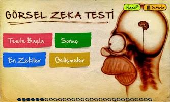 Screenshot of Görsel Zeka Testi