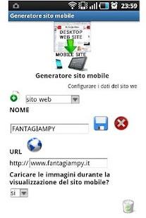 Mobile site generator+- screenshot thumbnail