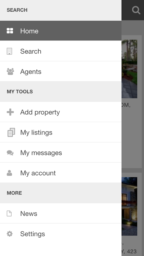 PG Real Estate mobile- screenshot