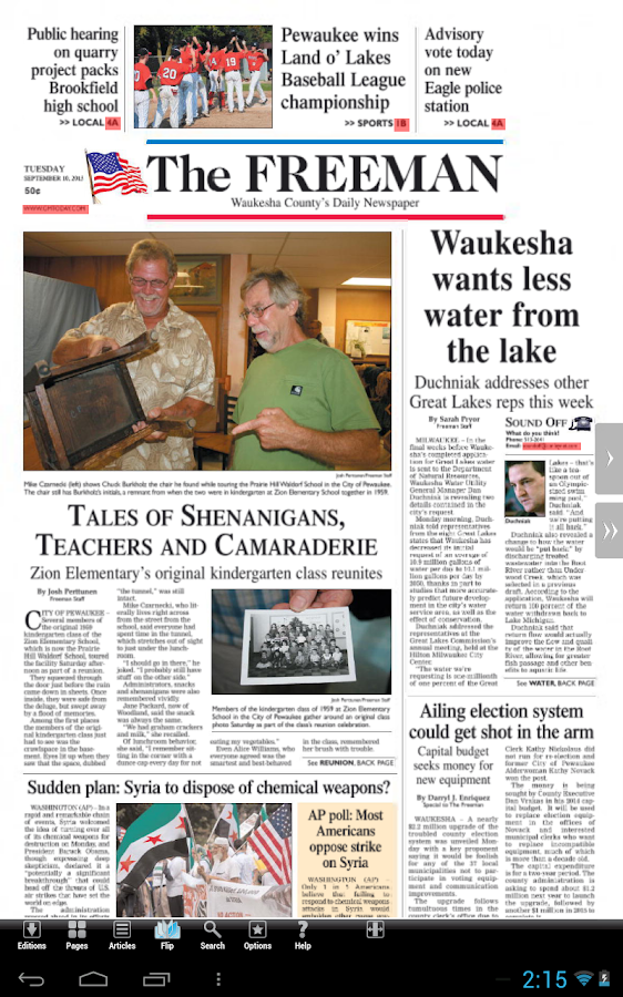 Waukesha Freeman - screenshot