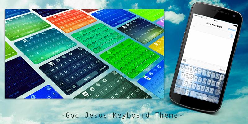 God Jesus Keyboard Theme - screenshot