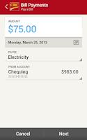 Screenshot of CIBC Mobile Banking®