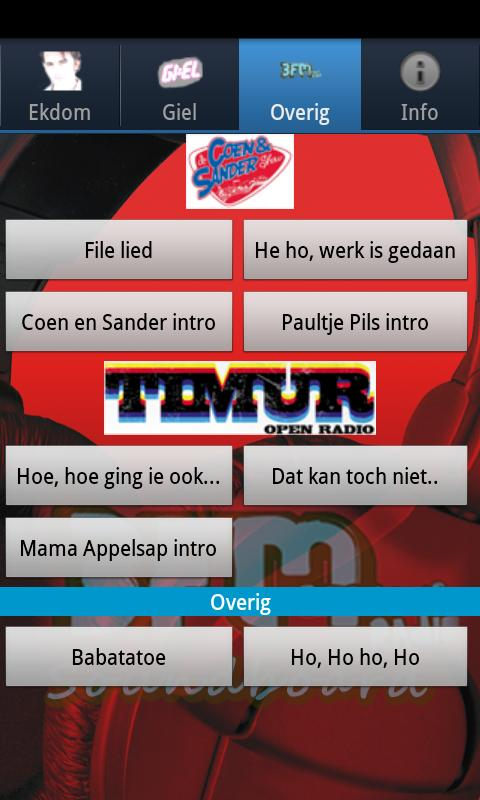 3FM Soundboard App - screenshot