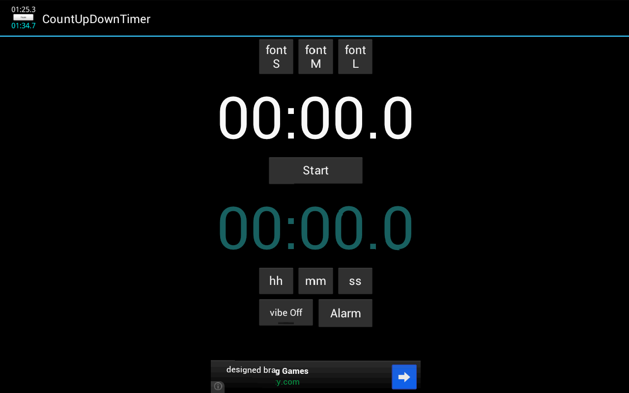 Count Up Down Timer -free ver. - screenshot