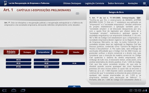 Lei de Falências 2a Ed. Tablet - screenshot thumbnail
