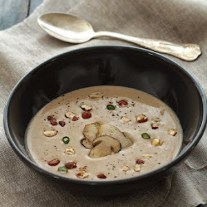 Autumn Veloute with Porcini Mushrooms and Hazelnuts