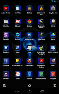 Next Launcher 3D Black n Black - screenshot thumbnail