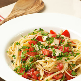 Pasta with Fresh Tomatoes and Herbs.