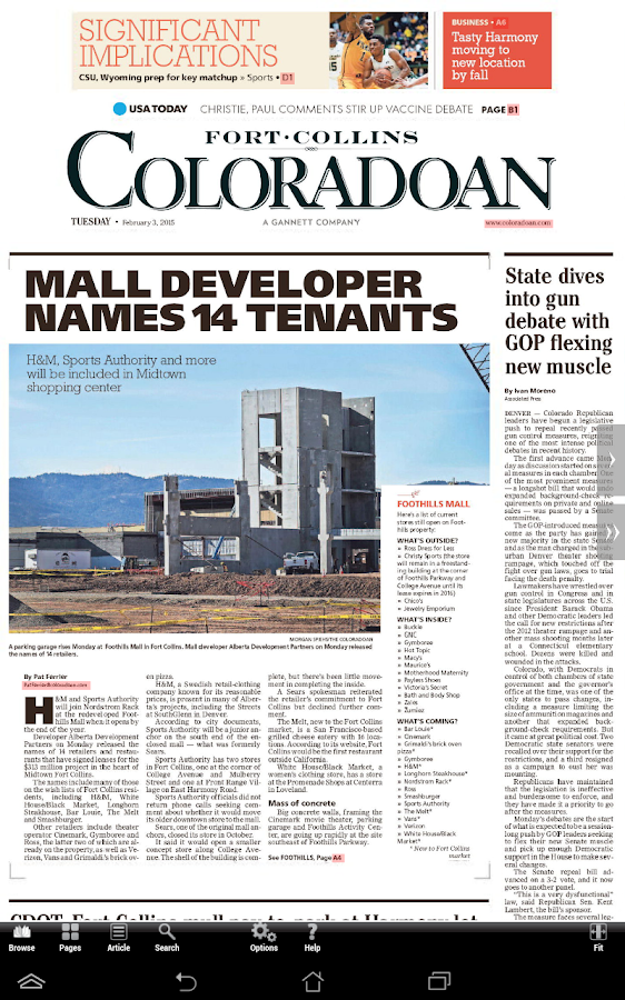 Fort Collins Print Edition- screenshot