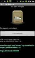 Screenshot of WiFi File Manager (Free)