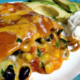 Black Bean and Spinach Enchilada Casserole.