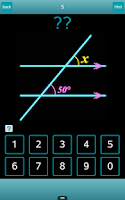 Screenshot of Angles? solve figures problems