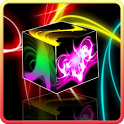 Neon light cube live wallpaper icon