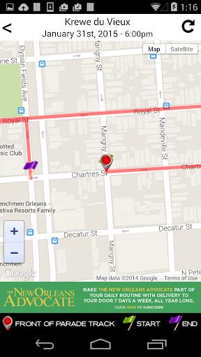 玩免費旅遊APP|下載WWL Mardi Gras Parade Tracker app不用錢|硬是要APP