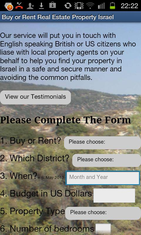 Real Estate Property in Israel - screenshot