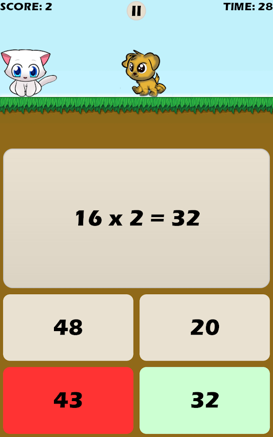 Math Games with Kitten- screenshot