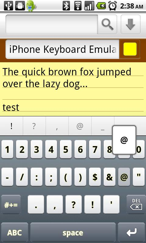iPhone Keyboard Emulator FREE - screenshot