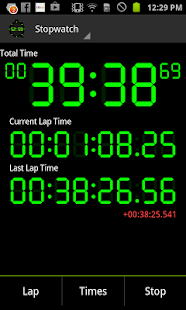 Digital Stopwatch & Timer - screenshot thumbnail