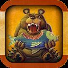 Круглолицый голодный медведь icon