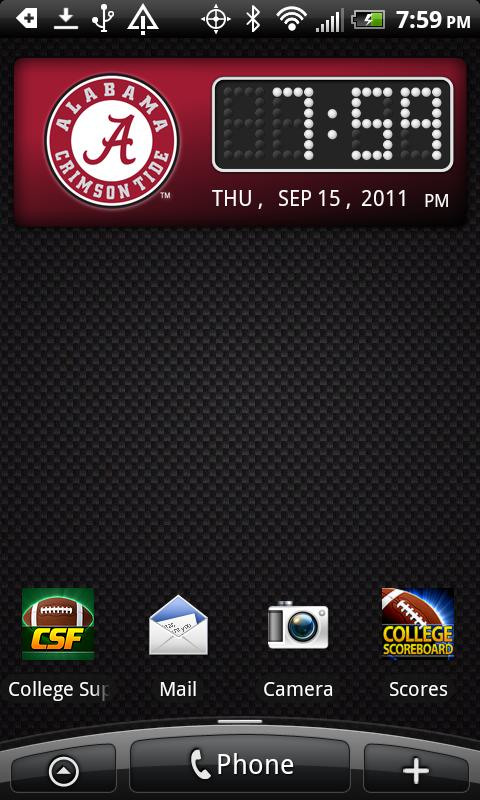 Alabama Crimson Tide Clock- screenshot