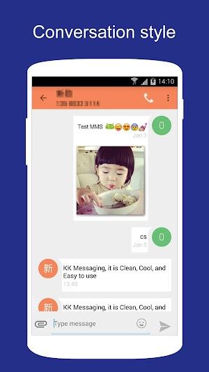 1 SMS KK (SMS/MMS, Lollipop SMS) App screenshot